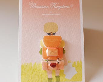 Sam's Backpack Pin - Moonrise Kingdom Pin / Wes Anderson / Jewelry / Wes Anderson Pin
