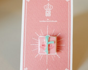 Mendl's box Pin / Brooch - The Grand Budapest Hotel / Mendls Pin / Grand Budapest Hotel Jewelry / Wes Anderson Pin