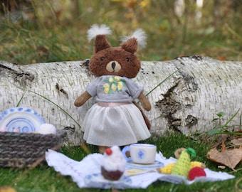 Stuffed Squirrel Toy Forest Animals Toy Woodland Animal Teddy Etsy