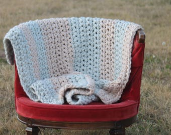 Baby Crochet Blanket Baby Tummy Time Throw