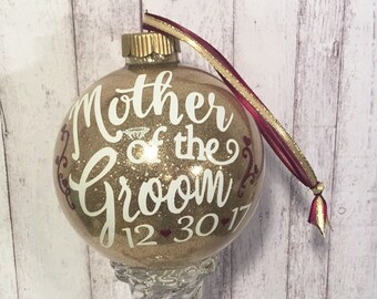 Mother of the Groom,  Personalized Ornament, Gold, Silver, or White