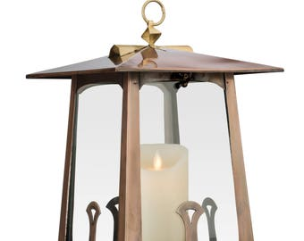 Large Candle Lantern, Patio Candle Holder, H Potter Craftsman, Decorative  Table Top, Indoor Outdoor, Wedding Centerpiece, Garden Gift, Deck