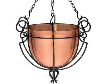 Extra Large Planter, H Potter Hanging Basket, Handmade Pot, Patio, Deck, Garden Gift, Outdoor Decor, Yard Art