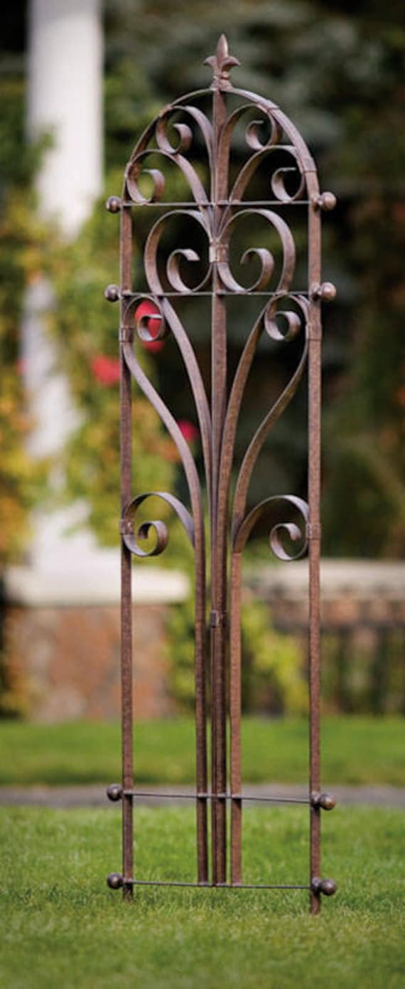 Marvelous H Potter Italian Wrought Iron Garden Trellis, Metal Indoor Outdoor, Yard  Art, Large Wall Art, Garden Gift, Plant Flower Trellis, Wedding