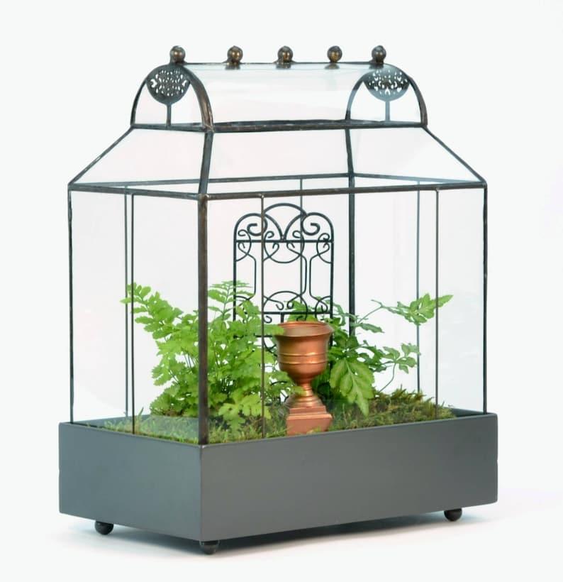 Large Glass Terrarium Planter Container H Potter Barrel Etsy