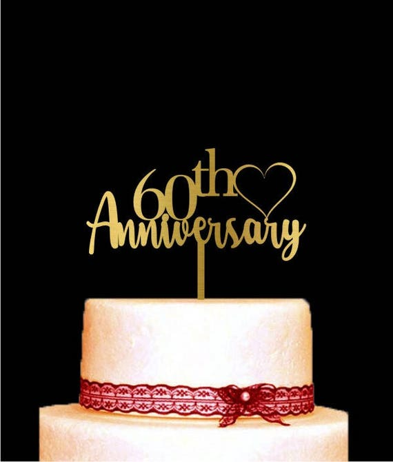 60th Anniversary Cake Topper Customized