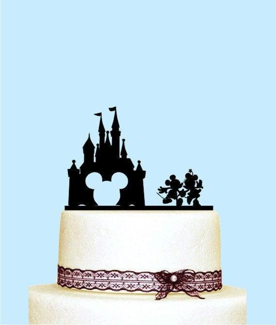 Mickey Und Minnie Hochzeitstorte Disney Schloss Etsy