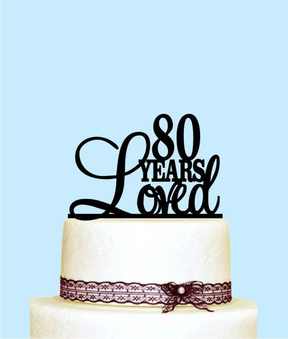 Script 25 Years Loved Cake Topper 25th Anniversary Cake Topper