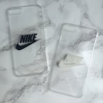 Clear hard or protective gel iPhone and Samsung Galaxy case with Nike logo