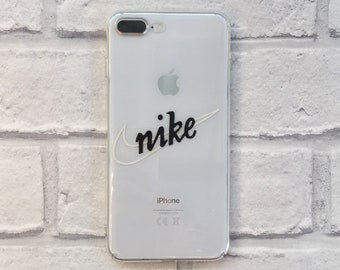 Nike clear phone case hard or protective gel option for iPhone and Samsung 6 / 7 / 8 / SE / Plus / X / 11 Pro / 12 / 13 / S9 / S10 / S20