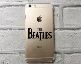 The Beatles clear phone case hard or protective gel option for iPhone and Samsung 6 / 7 / 8 / SE / Plus / X / XS Max / 11 Pro / 12 / S8 /S9