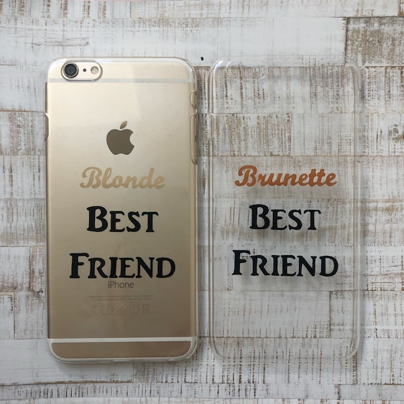 online store 34270 6502f Matching best friends blonde and brunette clear hard or protective gel  iPhone and Samsung Gaalxy cases
