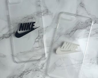 Unique clear transparent phone cover case with Nike sports logo for iPhone and Samsung Galaxy