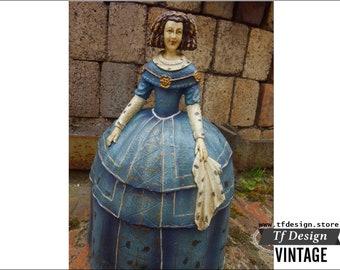 Female resin figure, Female Spanish figure of Velazquez, Menina doll figure, Spanish Menina figure, Doll resin female figure, Menina  33 cm