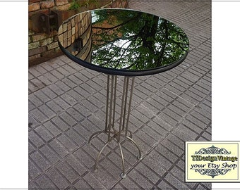 Round mirror table, Mirror top round table, Modern round accent table, Accent round table,Mirror end table, Side round table mirror, 50 cm