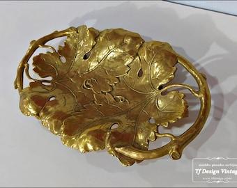 Centro de mesa comedor, Centro de mesa clásico, Centro decorativo dorado, Centro mesa salón, Centro mesa bronce, Centro mesa dorado