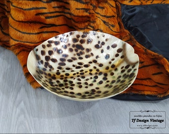 Original centrepiece, Table round bowl, Animal print centrepiece, Centrepiece ornament, Decorative bowl for home decor, Leopard print bowl