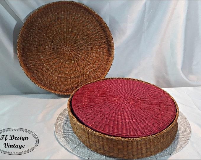Set of 6 jute under plates, Under jute plates, Under hand-woven plates, Original under plates,Table service, Ethnic style, Housewarming gift
