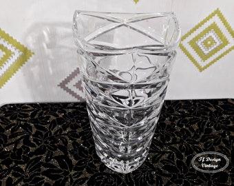 Hand-carved Rock crystal vase, Glass vase for flowers, Rock glass vase, Flowers vase, Never used