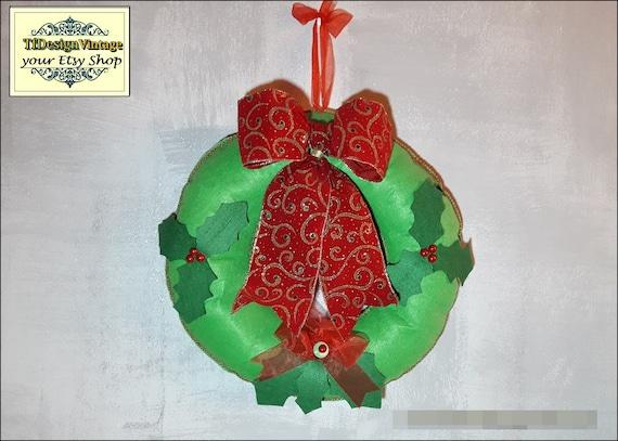 Christmas Wreath for Door, Christmas decor door, Xmas wreath, Christmas decor in green and red, Wreath door, Christmas ornaments for door