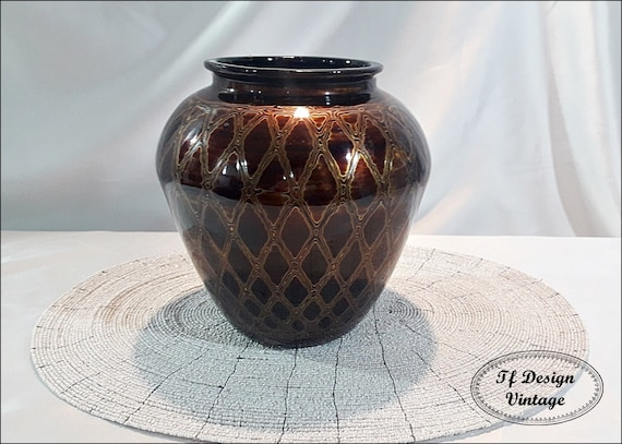 Vase wood, Lacquered wood vase, Vase ethnic, Ethnic home decor, Wooden vase, Brown wooden vase, Vase ethnic style, Vase decor, Vase brown