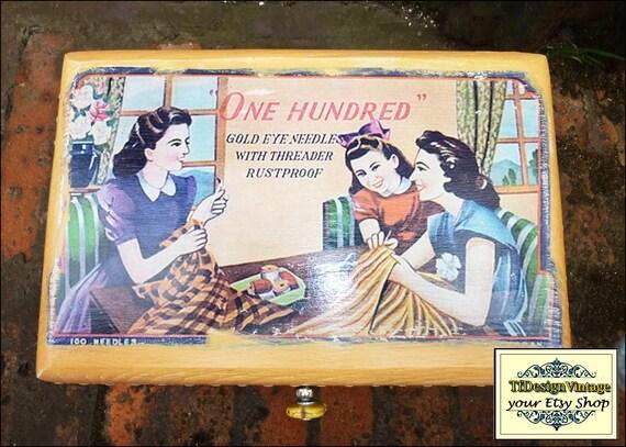 Sewing Box, Sewing Box wooden, Sewing box gift, Sewing box wood, Sewing box for beginner, Sewing box woman gift, Decorative box, Box wood