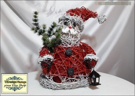 Santa Claus, Santa Claus figurine, Santa Claus decor, Santa Claus Christmas figure, Figure Santa Claus, Christmas ornaments, Red white Santa