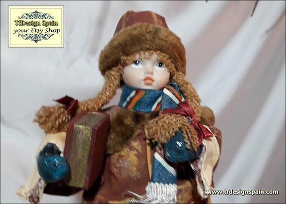 Girl figurine, Doll figutine, Doll collectibles, Girl figure, Figure girl vintage,  Girl figurines collectibles, School girl figurine