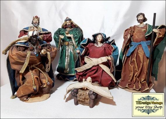 Nativity set, Christmas crib figures, Christmas Nativity figures, Nativity scene, Nativity crib, Nativity figurines, Christmas figurines set