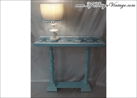Entryway table, Console table, Console table blue, Wood console table, Entryway furniture, Console table vintage, Blue paint furniture