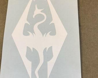 Skyrim Inspired Nightingales Crest Vinyl Decal