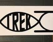 Trek Fish - Vinyl Decal Sticker for Laptop Macbook or Car Star Trek Enterprise