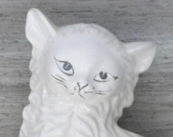 White Ceramic Cat