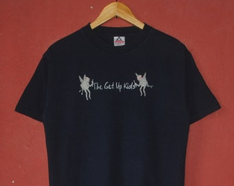 0d3a7b696 Vintage The Get Up Kids 1999 Promo T shirt Medium / 90s Something To Write  Home About Promo Album Indie Rock Pop Punk Alternative Emo tee