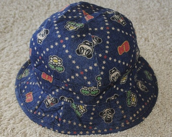 a5d18cceb0a Vintage SUPER LOVERS 1990s Lovers House bucket hat Free size   Japanese  streetwear fashion Harajuku all over print hat   Denim hat