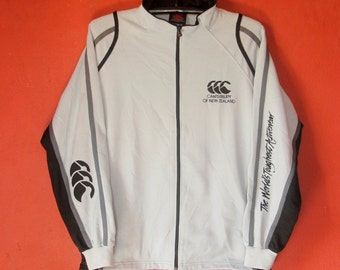 Vintage CANTERBURY sweater Large  / Vintage Rugby jacket / Pullover / Canterbury of New Zealand windbreaker