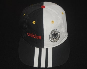 14334f34b42 Vintage ADIDAS Germany Football 1990s hat cap Free size  90s Classic Adidas  Deutschland hat   Made in Taiwan   Hip Hop Swag Soccer cap