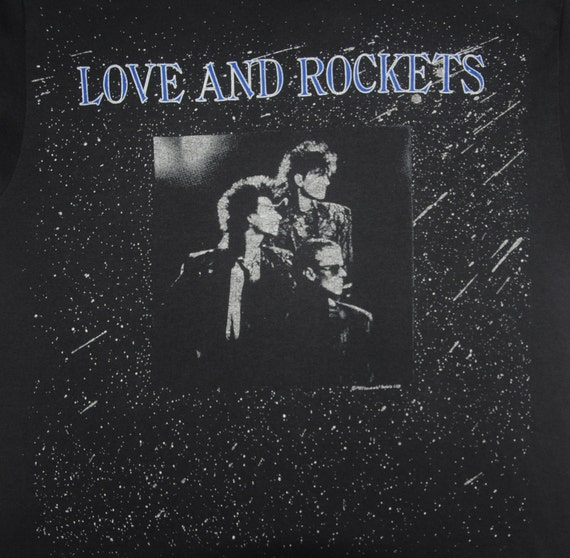 promo shirt Concert alternative Promo tee 1987 ROCKETS Indie New Wave 1980s Daniel Vintage Tour English LOVE T Rock AND Ash Punk Medium 7nAIx8R