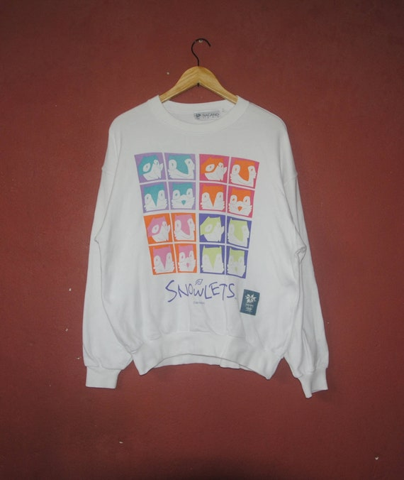 Vintage OLYMPICS NAGANO 1998 1990s sweatshirt size Medium Large Vintage olympics sport Graphic novelty sweater Pullover Jumper