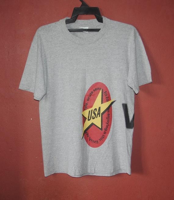 Vintage VANS T shirt size Medium 1990s Grey Streetwear vintage tees Skateboarding skate grunge punk T shirt