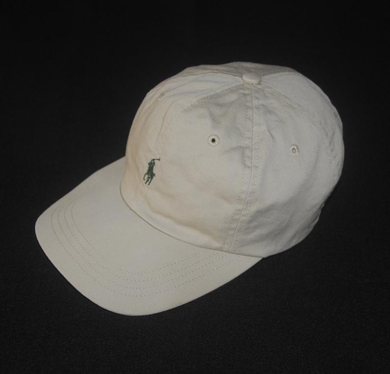afa3f6fb3d4 Vintage POLO Ralph Lauren 90s Small pony hat cap Free size