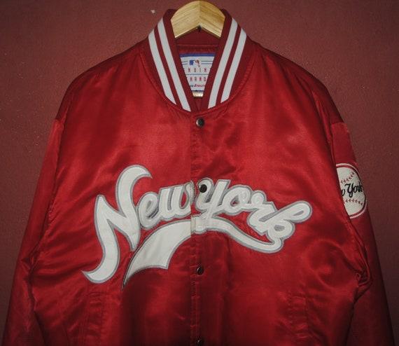 Yankees Hop Jacket swag Large Vintage Baseball 90s Mlb Yankees jacket Hip Varsity size red NY 1990s Vintage rare hipster New York Satin IFBHqIUE