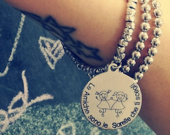 """Silver Bracelet 925 Friendship or """"customizable"""" starting from"""