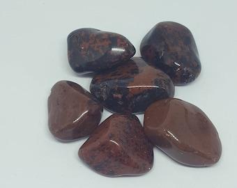 Mahogany Obsidian  Tumblestone  20 -30 mm Crystal Reiki Healing Chakra Spiritual