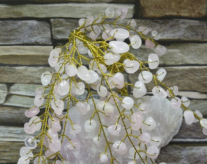 Rose Quartz Gem Tree.  Beautiful Gift, Rose Quartz Crystal for Love