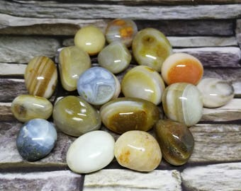 Multi Banded Agate Tumblestone 20-40 mm , Crystal Healing, Reiki, One Piece