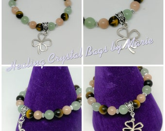 Hand Made crystal gemstone Bracelet for Good Luck,  crystal healing
