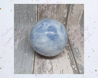 Blue Calcite  Sphere 70 mm Crystal  Ball