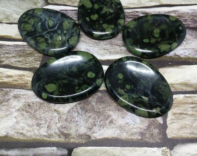 Kambaba Jasper Worry Stone, Polished Worry Stone, Thumb Stone.  Chakra Meditation Reiki Crystal Gemstone