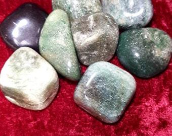 Large Dark  Green Aventurine  Tumblestone Crystal Reiki Healing Chakra Spiritual